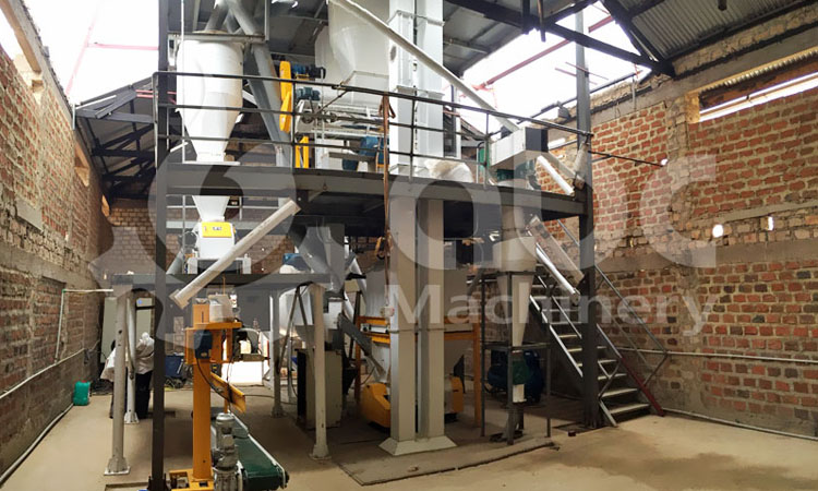 2TPH poultry feed mill project