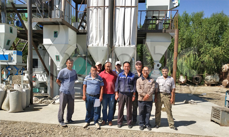 poultry feed mill equipment project manager and client