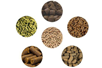 various kinds of feed pellets